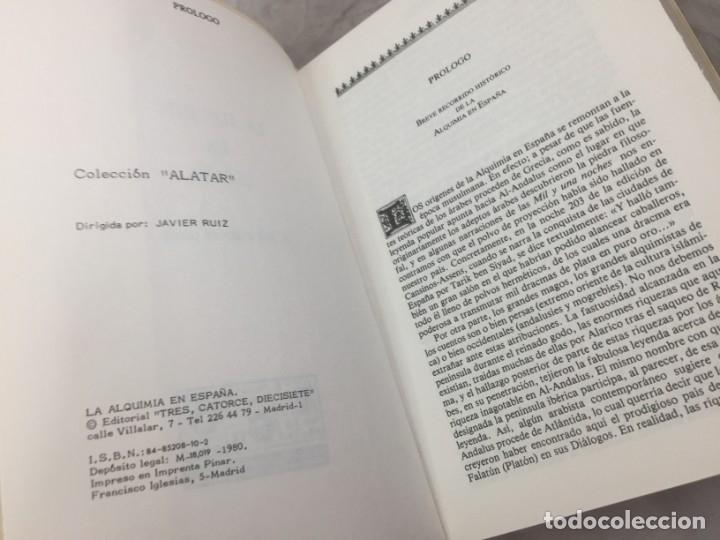 Libros de segunda mano: La Alquimia en España por D. José Ramón de Luanco. Colección Alatar. Madrid 1980 - Foto 4 - 180314658