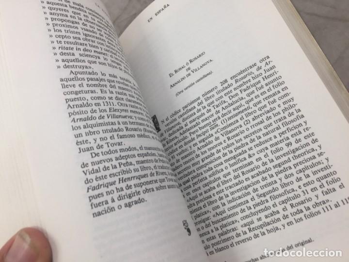 Libros de segunda mano: La Alquimia en España por D. José Ramón de Luanco. Colección Alatar. Madrid 1980 - Foto 9 - 180314658