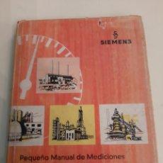 Libros de segunda mano: 1966 SIEMENS MANUAL MEDICIONES CONTROL AUTOMOCIÓN PROCESOS INDUSTRIALES Y TERMOTECNICOS. Lote 180322497