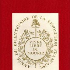 Libros de segunda mano: LIVRET PHILATÉLIQUE BICENTENAIRE DE LA RÉVOLUTION FRANÇAISE. Lote 180327726