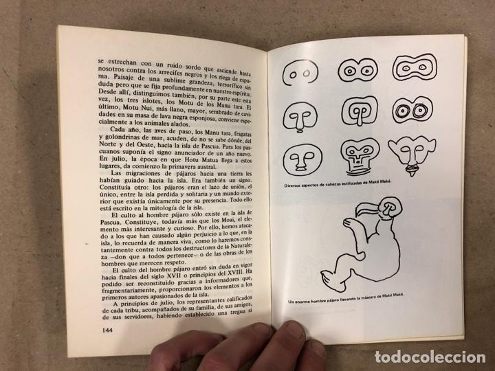 Libros de segunda mano: LA VERDAD SOBRE LA ISLA DE PASCUA. MAURICE & PAULETTE DERIBERE. EDITA: A.T.E. 1977. 286 PÁGINAS. - Foto 5 - 180422376