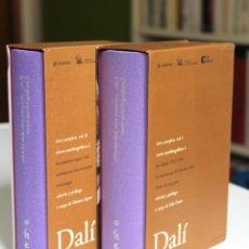 Libros de segunda mano: DALÍ - OBRA COMPLETA TOMOS I Y II. TEXTOS AUTOBIOGRÁFICOS - DESTINO. FUNDACIÓN GALA-DALÍ. Lote 180428112