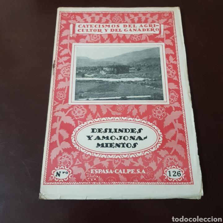 CATECISMO DEL AGRICULTOR Y GANADERO 126 DESLINDES Y AMOJONAMIENTOS (Libros de Segunda Mano - Bellas artes, ocio y coleccionismo - Otros)