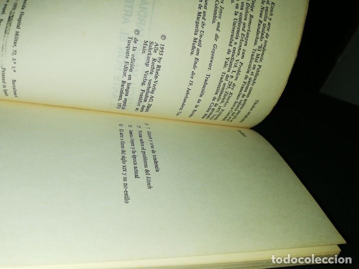 Libros de segunda mano: Herman broch, kitsch, vanguardia y arte por el arte - Foto 3 - 180431177