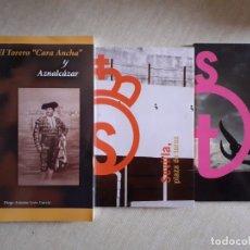 Libros de segunda mano: LOTE DE LIBROS DE TAUROMAQUIA - TORERO CARA ANCHA - LA MAESTRANZA DE SEVILLA. Lote 180433293