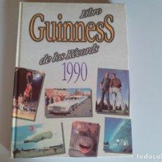Libros de segunda mano: LIBRO GUINNESS DE LOS RECORDS 1990: EDICIONES JORDAN. AÑO 1990. Lote 180433772