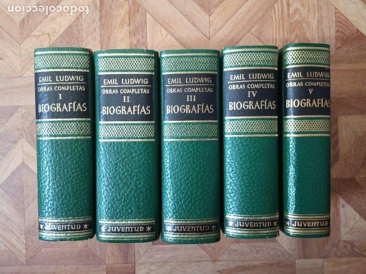 EMIL LUDWIG - OBRAS COMPLETAS - 5 TOMOS (Libros de Segunda Mano (posteriores a 1936) - Literatura - Otros)