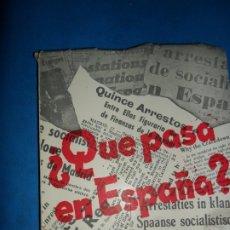 Libros de segunda mano: ¿QUÉ PASA EN ESPAÑA?, EL PROBLEMA DEL SOCIALISMO ESPAÑOL, MADRID, 1959. Lote 180478262