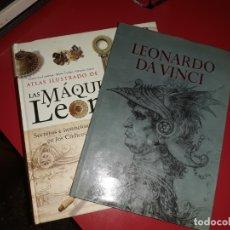 Libros de segunda mano: LOTE LEONARDO DA VINCI EDITORIAL TIMUN MAS 1967 Y LAS MÁQUINAS DE LEONARDO SUSAETA CON REGALO. Lote 180485231