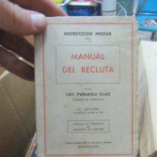 Livros em segunda mão: MANUAL DEL RECLUTA, LUÍS PUMAROLA ALAIZ. L.11649-1143. Lote 180837860