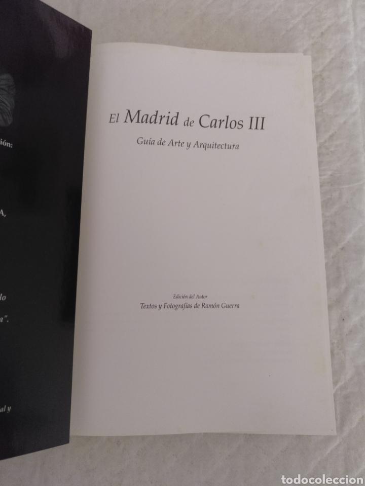 Libros de segunda mano: El Madrid de Carlos III. Guía de Arte y Arquitectura. Siglo XVIII. Tomo II. Libro - Foto 2 - 180840833