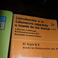 Libros de segunda mano: EL SIGLO XX DESDE LA GENERACIÓN DEL 27, VVAA, ED. ITSMO. Lote 180840855
