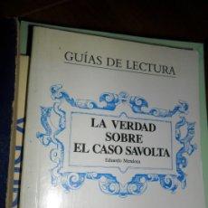 Libros de segunda mano: LA VERDAD SOBRE EL CASO SAVOLTA, GUÍAS DE LECTURA, SANTOS ALONSO, ED. ALHAMBRA. Lote 180842093