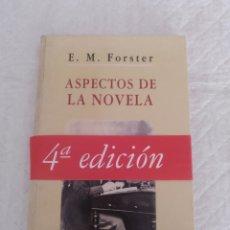 Libros de segunda mano: ASPECTOS DE LA NOVELA. E M FORSTER. LIBRO. Lote 180847651