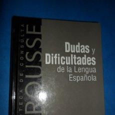 Libros de segunda mano: DUDAS Y DIFICULTADES DE LA LENGUA ESPAÑOLA, ED. RBA. Lote 180875852