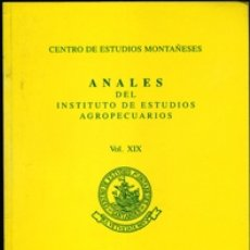 Libros de segunda mano: ANALES DEL INSTITUTO DE ESTUDIOS AGROPECUARIOS. VOL. XIX. AÑOS 2009-2010.. Lote 180885247