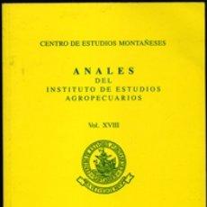Libros de segunda mano: ANALES DEL INSTITUTO DE ESTUDIOS AGROPECUARIOS. VOL. XVIII. AÑOS 2007-2008.. Lote 180885610