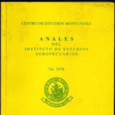 Libros de segunda mano: ANALES DEL INSTITUTO DE ESTUDIOS AGROPECUARIOS. VOL. XVII. AÑO 2006.. Lote 180885772