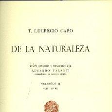 Libros de segunda mano: DE LA NATURALEZA. VOLUMEN 2. Lote 180891111