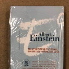 Libros de segunda mano: ERLATIBITATEAREN TEORIA, EINSTEINEK BERAK AZALDUA. ALBERT EINSTEIN. KLASIKOAK 1991. EUSKARAZ. Lote 180897016