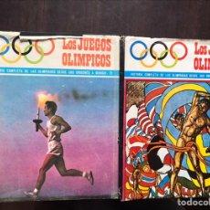 Libros de segunda mano: LOS JUEGOS OLÍMPICOS I Y II. HISTORIA COMPLETA DE LAS OLIMPIADAS. JUAN GABRIEL THARRATS. Lote 180906250