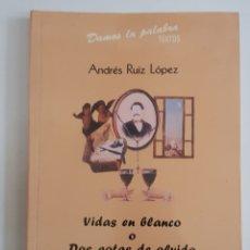 Libros de segunda mano: VIDAS EN BLANCO O DOS GOTAS DE AGUA - ANDRES RUIZ - TDK38. Lote 180976510