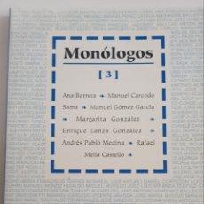 Libros de segunda mano: TEATRO ASOCIADOS - MONOLOGOS 3 - TDK38. Lote 180978056