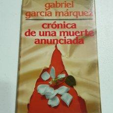 Libros de segunda mano: CRONICA MUERTE ANUNCIADA - MARQUEZ - TDK162. Lote 180978792
