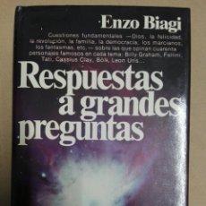 Libros de segunda mano: RESPUESTAS A GRANDES PREGUNTAS. Lote 180984412