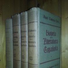 Libros de segunda mano: HISTORIA DE LA LITERATURA ESPAÑOLA, ANGEL VALBUENA PRAT, EDITORIAL GUSTAVO GILI, 4 TOMOS, 1963. Lote 181092648