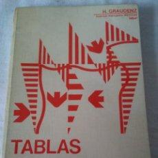 Libros de segunda mano: 107-TABLAS DE MOMENTOS PARA VIGAS CONTINUAS, H. GRAUDENZ, 1973. Lote 181118382