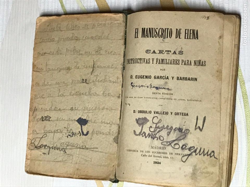 Libros de segunda mano: EL MANUSCRITO DE ELENA - CARTAS INSTRUCTIVAS Y FAMILIARES PARA NIÑAS Eugenio garcia y barbarin 1924 - Foto 3 - 195386886