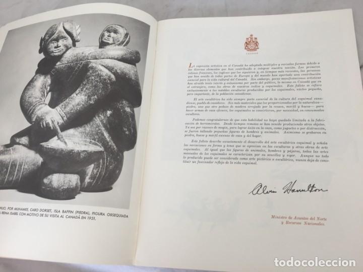 Libros de segunda mano: ARTE ESQUIMAL CANADIENSE, INUIT. Ministerio de Asuntos del Norte y Recursos Nacionales. Ottawa, 1957 - Foto 4 - 181325713