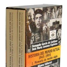 Libros de segunda mano: HISTORIA DEL MUNDO ACTUAL 1945-1995. OBRA COMPLETA ESTUCHE CON 2 TOMOS - FERNANDO GARCÍA DE CORTÁZAR. Lote 181335516