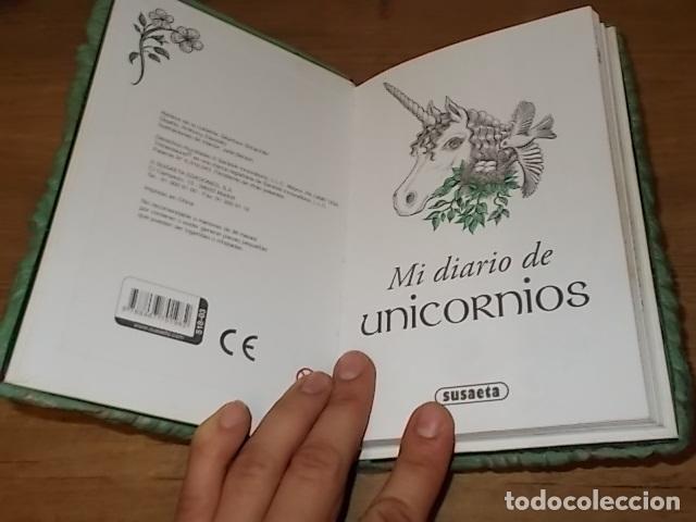Libros de segunda mano: MI DIARIO DE UNICORNIOS . SUSAETA EDICIONES. CUBIERTA : SEYMOUR SCHACHTER. DIBUJOS : JULIE BERSON - Foto 2 - 181352388