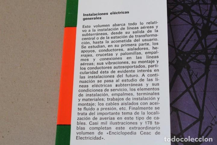 Libros de segunda mano: INSTALACIONES ELÉCTRICAS GENERALES. - 8º Edic 1993 ENCICLOPEDIA CEAC DE ELECTRICIDAD - Foto 3 - 237180775