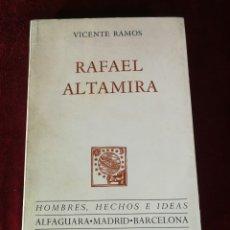 Libros de segunda mano: 1968 RAFAEL ALTAMIRA VICENTE RAMOS - HISTORIA ALICANTE. Lote 181479921
