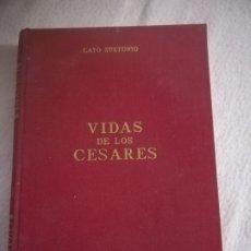 Libros de segunda mano: VIDA DE LOS CESARES. CAYO SUETONIO. EDICIONES ALONSO. 1966. BIBLIOTECA OBRAS FAMOSAS Nº 5. ILUSTRADO. Lote 192791473