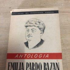 Libros de segunda mano: ANTOLOGÍA EMÍLIA PARDO BAZÁN. Lote 181986527