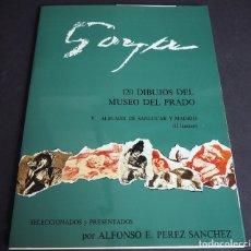 Libros de segunda mano: GOYA. 120 DIBUJOS DEL MUSEO DEL PRADO. CARPETA DEL TOMO V CON TEXTO Y 12 LÁMINAS. Lote 182019571