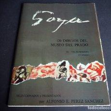 Libros de segunda mano: GOYA. 120 DIBUJOS DEL MUSEO DEL PRADO. CARPETA DEL TOMO III CON TEXTO Y 12 LÁMINAS. Lote 182019748