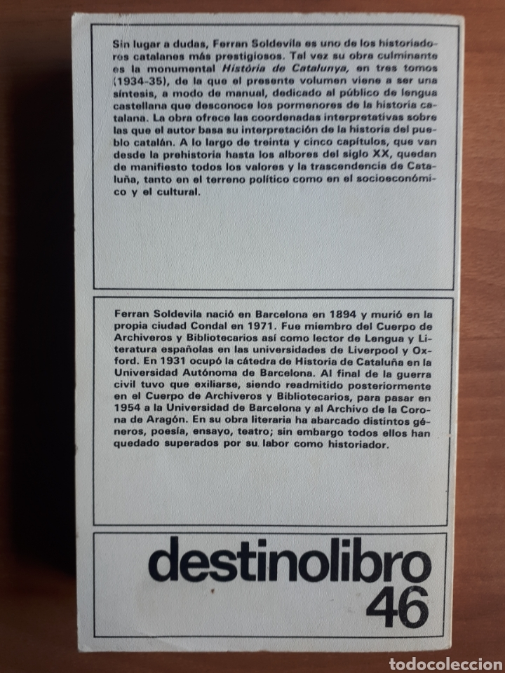 Libros de segunda mano: SÍNTESIS DE HISTORIA DE CATALUÑA. FERRAN SOLDEVILA - Foto 2 - 182082548