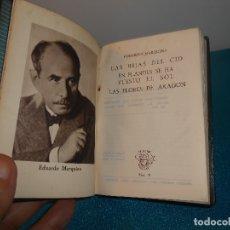Libros de segunda mano: EDUARDO MARQUINA, LAS HIJAS DEL CID - CRISOL Nº 24, 1943, 1ª EDICIÓN - BE. Lote 182103758