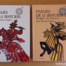 Libros de segunda mano: PASAJES DE LA HISTORIA / JUAN ANTONIO CEBRIÁN / 2003. CORONA BOREALIS / 2 TOMOS. Lote 182204580