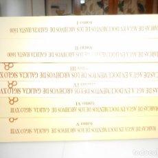 Libros de segunda mano: MARCAS DE AGUA EN DOCUMENTOS DE LOS ARCHIVOS DE GALICIA HASTA 1600 ( 6 TOMOS) Y96824 . Lote 182268456