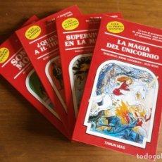Libros de segunda mano: LOTE 4 LIBROS - ELIGE TU PROPIA AVENTURA - Nº 8,18,33,38 - EDT. TIMUN MAS - AÑOS 80.. Lote 182317382