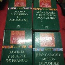 Libros de segunda mano: (LOTE DE 4). EPISODIOS HISTÓRICOS DE ESPAÑA. RICARDO DE LA CIERVA. NN. 1, 2, 3 Y 4.. Lote 182321561