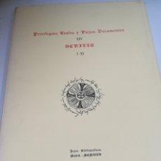 Libros de segunda mano: PRIVILEGIOS REALES Y VIEJOS DOCUMENTOS. XIV. SEVILLA. I-XI. JOYAS BIBLIOGRAFICAS. 1975. MADRID. Lote 182349717