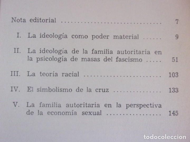 Libros de segunda mano: LA PSICOLOGÍA DEL FASCISMO / WILHELM REICH / 1ª EDICIÓN 1973. EDICIONES ROCA, MEXICO - Foto 2 - 182444190