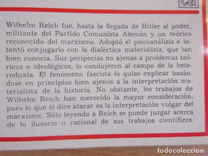 Libros de segunda mano: LA PSICOLOGÍA DEL FASCISMO / WILHELM REICH / 1ª EDICIÓN 1973. EDICIONES ROCA, MEXICO - Foto 3 - 182444190